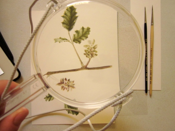 I often need the magnifying glass to help with the fine brush strokes.