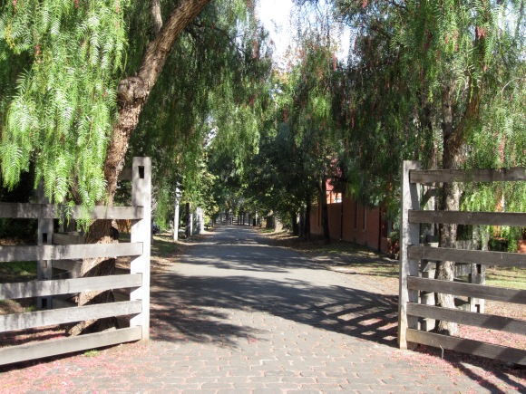 Bluestone paths, post and rail fences, peppercorn trees.(Photo copyright: Anne Lawson)