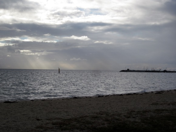 Looking to the Portarlington Jetty (Photo copyright: Anne Lawson 2013)