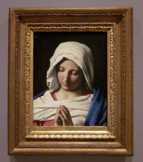 Sassoferrato: 'Madonna in prayer' (Italian, painted about 1640-50)
