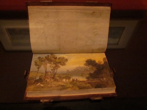 A sketch book from his very extensive collection. He was a prolific artist, and seemed to have a sketch book ready to use at all times.