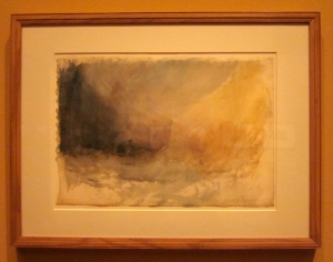"""Compositional, colour and underpainting study for """"Longship's Lighthouse, Land's End"""" c. 1834"""