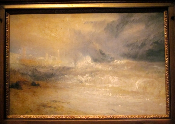 Waves breaking on a lee shore at Margate, c. 1840