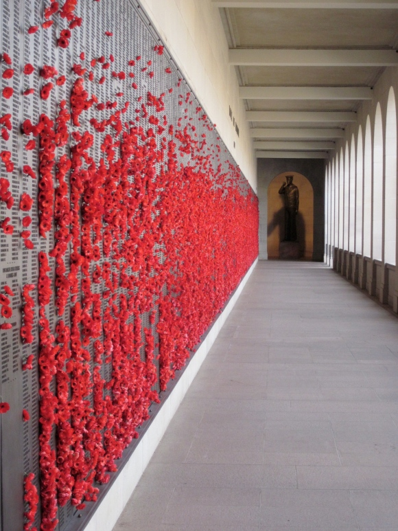 Honour roll, at the War Memorial, Canberra (Photo copyright: Anne Lawson 2013)