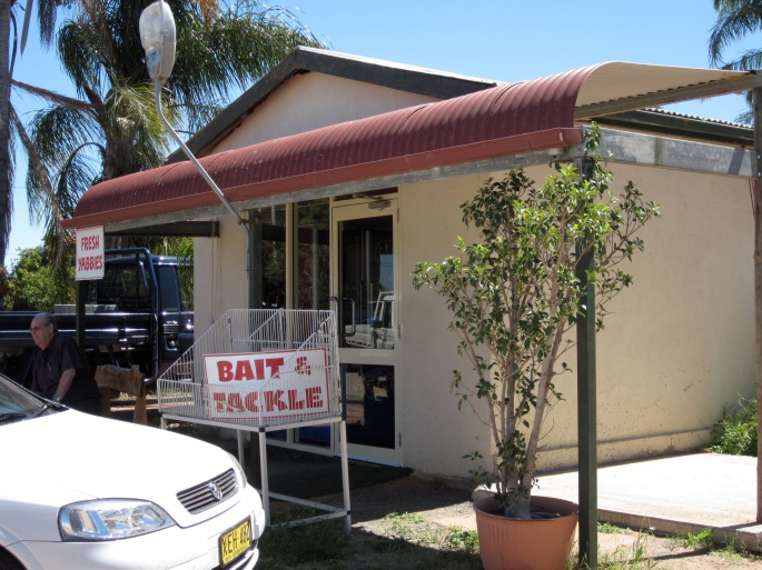 Coffee shop and bait shop! (Photo copyright: Anne Lawson, 2013)