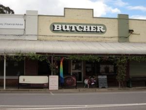 The coffee shop in the butchers (photo copyright: Anne Lawson 2013)
