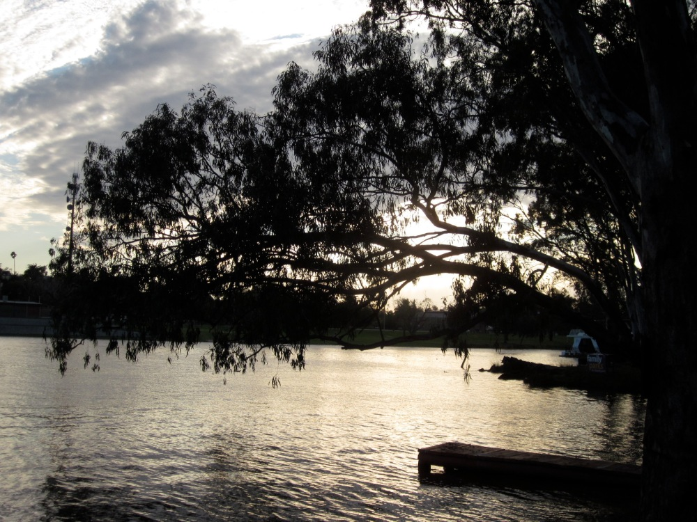Sunset over the Murray (Photo copyright: Anne Lawson 2013)