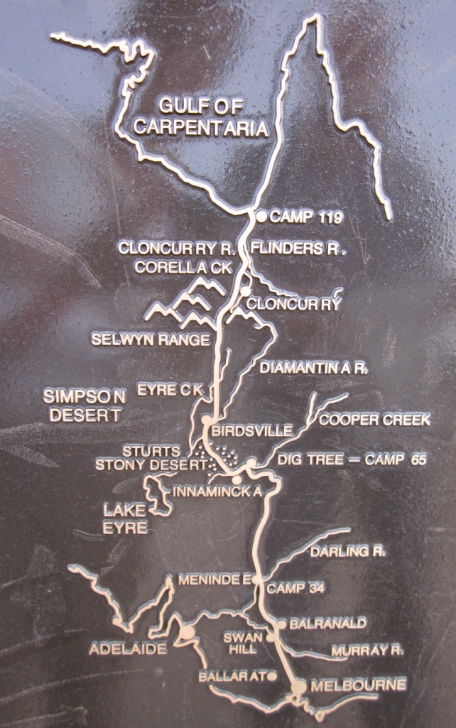 The route of Burke, Wills, Grey and King. (Photo copyright: Anne Lawson, 2013)