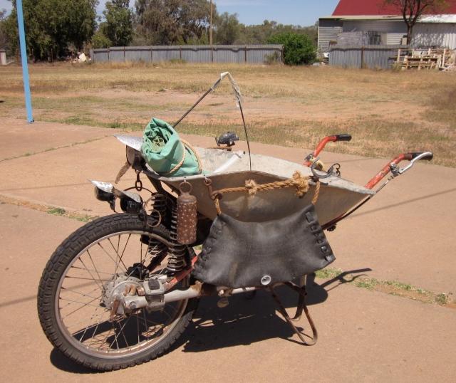 The 4 wheel drive wheelbarrow! (Photo copyright: Anne Lawson, 2013)
