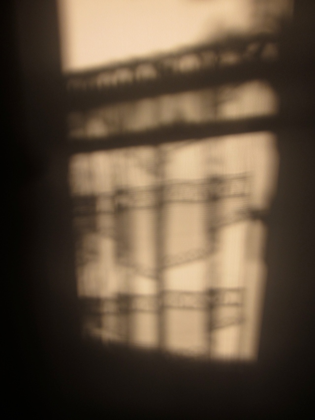 Shadows of the lace curtain (Photo copyright: Anne Lawson 2013)