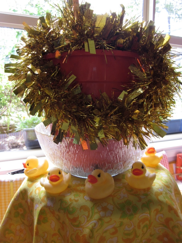 And around the base were more yellow ducklings! (Photo copyright: Anne Lawson 2013)