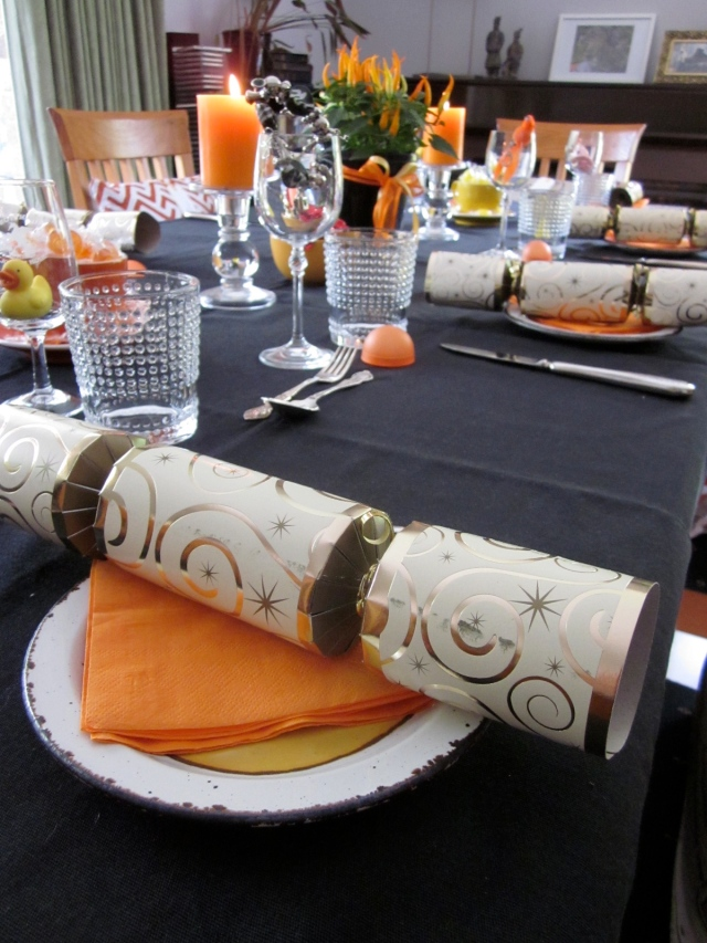 Even the napkins matched. (Photo copyright: Anne Lawson 2013)