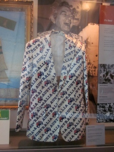 Victory jacket worn by Prime Minister of the day, Bob Hawke. (Photo copyright: Anne Lawson, 2014)