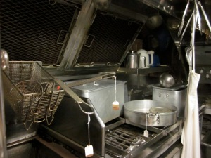 The left side of the galley. (Photo copyright: Anne Lawson, 2014)