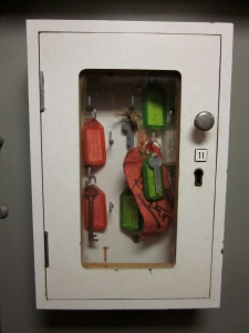 Apparently you do need keys on a submarine! (Photo copyright: Anne Lawson, 2014)