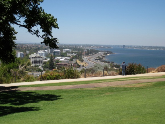 The city and the Swan River from Kings Park. (Photo copyright: Anne Lawson 2014)