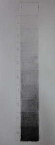 Grey scale for an 8B pencil