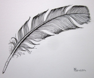 Ink feather (Photo and image copyright: Anne Lawson 2014)