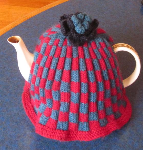 Snug in its homemade tea cosy