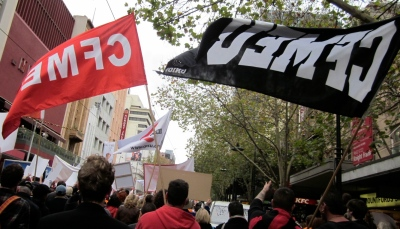 The CFMEU is the construction workers' union. It is strong and militant, and so in the firing line of the Abbott Government.
