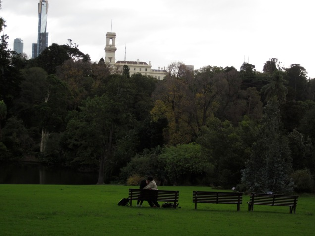 Victoria's Government House overlooks the gardens. It is a spot enjoyed by lovers too!
