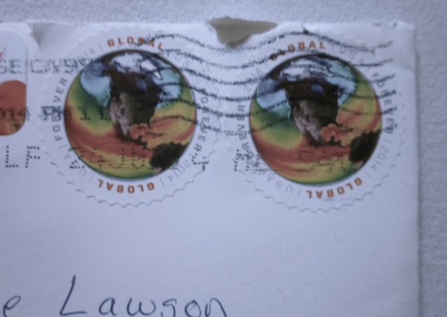 Real stamps, and aren't they gorgeous!
