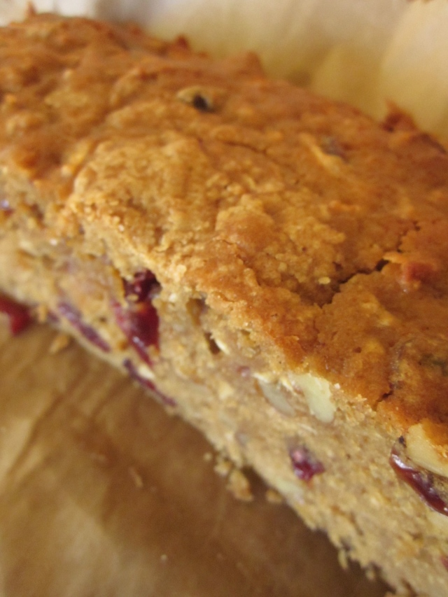 Celia's apple, walnut and cranberry cake (Photo copyright: Anne Lawson, 2014)