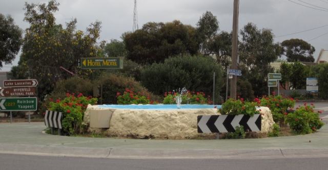 The fountain in Hopetoun (Photo copyright: Anne Lawson 2013)
