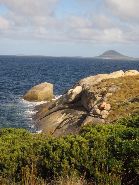 Mt Chappell Island from Flinders island. (Photo copyright: Anne Lawson 2015)