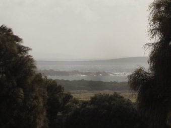 View from our bedroom, looking towards Trousers Point Beach (Photo copyright: Anne Lawson, 2015)