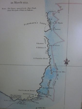 Close up of the map