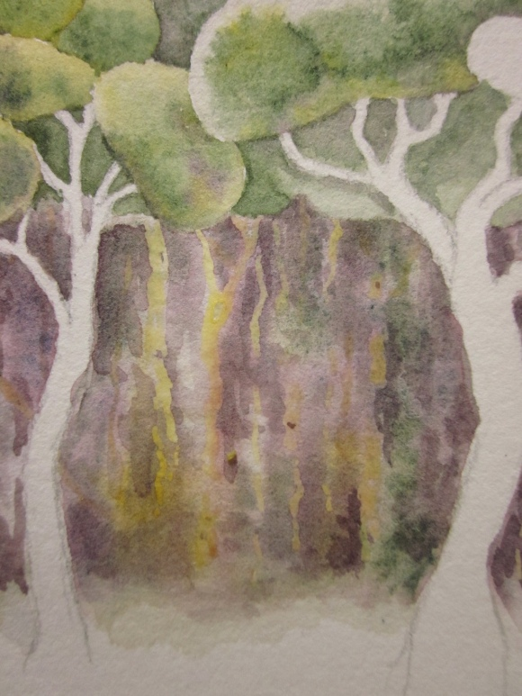 Close up of the use of masking fluid