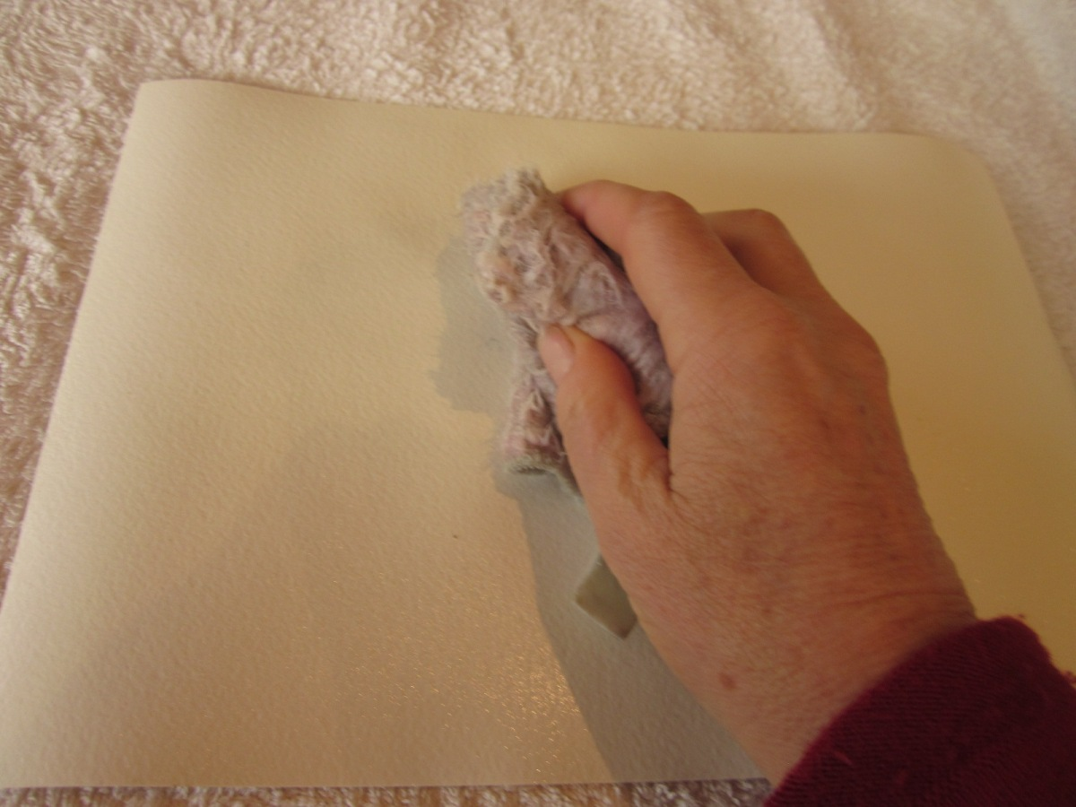 "How to stretch paper, the ""Anne Lawson Way"""