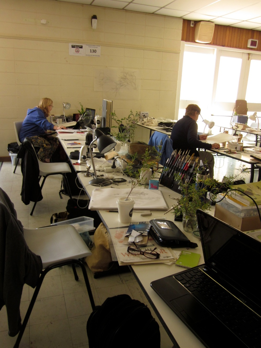 Work spaces. (Photo copyright: Anne Lawson, 2014)