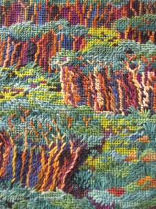 Detail of the stitching (Art work and photo copyright: Anne Lawson, 2016)