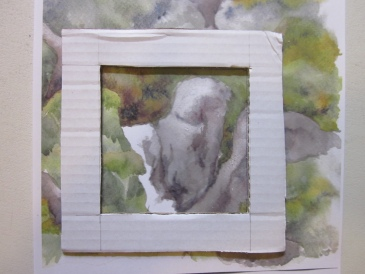 Choosing the 10 x 10 cm image (Image and photo copyright: Anne Lawson 2016)