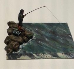 A little fisherman only about 3 cm tall by Thomas Bowman