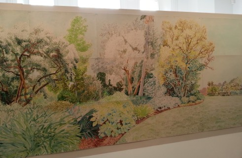 Elizabeth Nelson 'Green garden', painted in the Royal Botanical Gardens, Melbourne