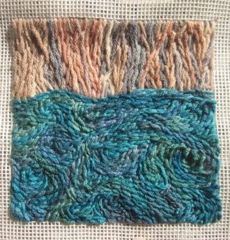 Sampler inspired by all the water we saw on our trip