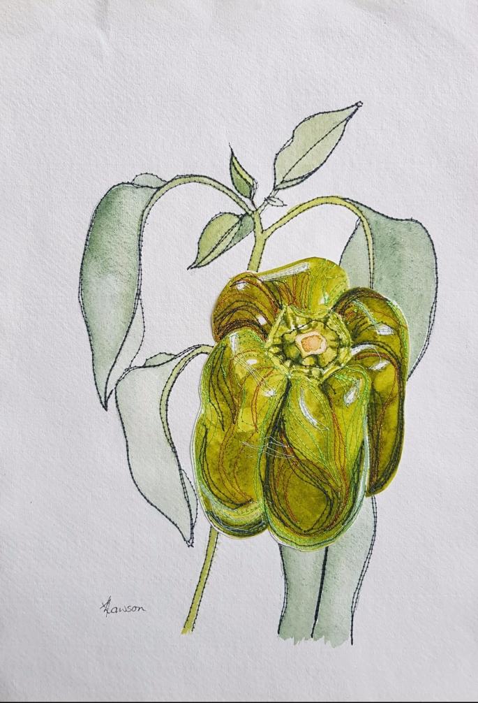 capsicum painting
