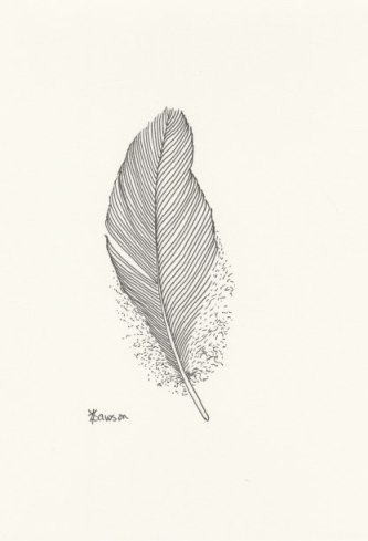 Ink feather