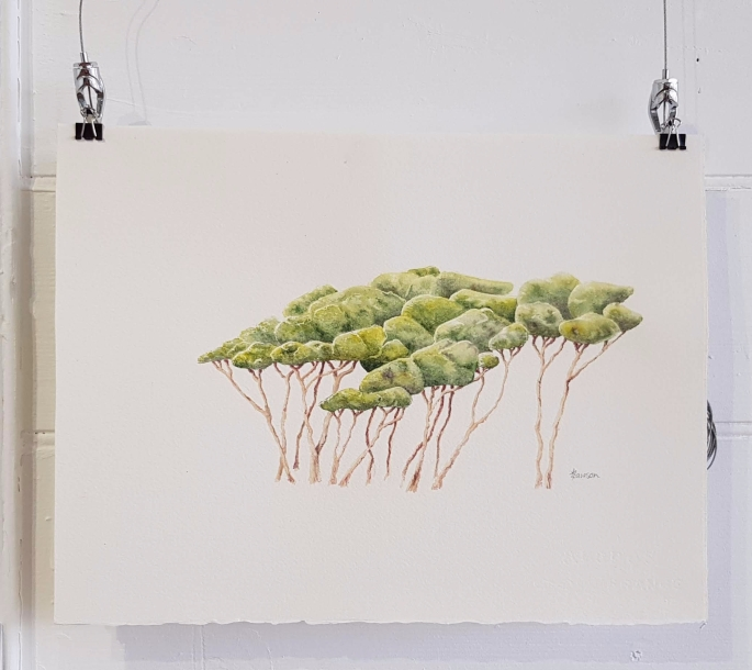 Anne Lawson Art tree painting